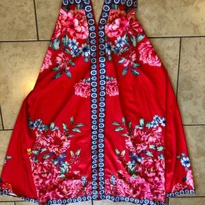 a'gaci Dresses - Red Floral Vacation Dress